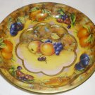 VINTAGE DAHER DECORATED WARE TIN HANDPAINTED FRUIT BOWL ENGLAND #951942