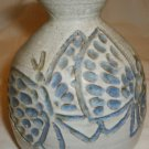 GORGEOUS VINTAGE McWhirter THROWN WHEEL POTTERY GLAZED CERAMIC VASE BUTTERFLIES