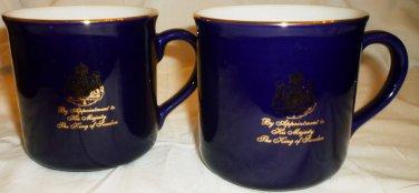 BEAUTIFUL GEVIAL COBALT & WHITE PORCELAIN COFFEE TEA MUG SWEDEN