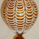 VINTAGE VICTORIAN AMBER NAILSEA CAMEO PEDESTAL GLASS DRAPED PATTERN LIDDED BOWL