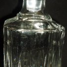 GORGEOUS CLEAR LEAD CRYSTAL GLASS LIQUIOR DECANTER