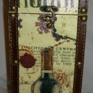 GIFTWARE COLORFUL WINE LIQUOR BOTTLE HOLDER CARRIER + 4 MATCHING CLOTH COASTERS