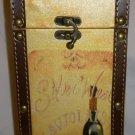 GIFTWARE COLORFUL WINE LIQUOR BOTTLE HOLDER CARRIER + 2 MATCHING CLOTH NAPKINS
