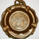 VINTAGE COMMEMORATIVE MINES & MINES TOURS COPPER PLATED ANCHOR ASHTRAY HEAVY