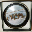 COLLECTIBLE GLASS PAPERWEIGHT STONEHENGE IN THE WINTER ENGLISH HERITAGE ENGLAND
