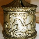 VINTAGE SILVERPLATED CAROUSEL CHILDREN PIGGY BANK