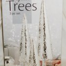 CHRISTMAS DECORATION GLASS TREES SET OF 3 GREAT GIFT NMB