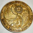 COMMEMORATIVE TRW DSSG 1980 BILLION DOLLAR YEAR SEASONS PAPERWEIGHT MEDAL COIN