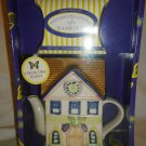 WEDGWOOD COTTAGE BY TEA IMPORTS COLLECTIBLE TEAPOT 7 PEPPERMINT TEA SET NM