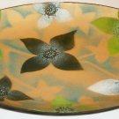 CAMERON TUCKER TARA MACKINTOSH MODERN ENAMEL COPPER OVAL TRAY GREEN & WHITE