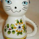 CHARMING HAND PAINTED CERAMIC CAT CREAMER ARESTA PORTUGAL