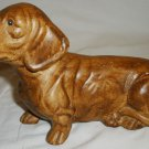 VINTAGE CERAMIC BROWN DACHSHUND FIGURINE