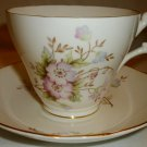 ROYAL STUART ENGLAND BONE CHINA FLORAL TEA CUP & SAUCER SET