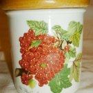 PORTMEIRION ENGLAND POMONA GARDEN OF FRUIT PORCELAIN CANISTER JAR RED CURRANT