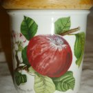 PORTMEIRION ENGLAND POMONA GARDEN OF FRUIT PORCELAIN CANISTER JAR MORNING APPLE