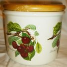 PORTMEIRION ENGLAND POMONA SUSAN WILLIAMS-ELLIS BIG CANISTER LATE DUKE CHERRY