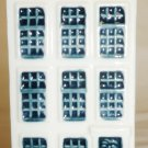 VINTAGE PORCELAIN WHITE & BLUE DELFT MADE FOR KLM BOLS DUTCH HOUSE #46 EMPTY