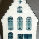 VINTAGE PORCELAIN WHITE & BLUE DELFT MADE FOR KLM BOLS DUTCH HOUSE #49 EMPTY