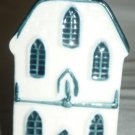 VINTAGE PORCELAIN WHITE & BLUE DELFT MADE FOR KLM BOLS DUTCH HOUSE #7 EMPTY