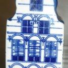 VINTAGE PORCELAIN WHITE & BLUE DELFT MADE FOR KLM BOLS DUTCH HOUSE NO NUM EMPTY