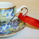 VINTAGE PORCELAIN MINIATURE CUP&SAUCER DOLLHOUSE CHRISTMAS ORNAMENT REUTER