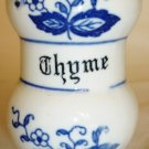 VINTAGE JAPAN PORCELAIN BLUE & WHITE BLUE ONION THYME SPICE SHAKER