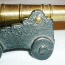 VINTAGE SOLID BRASS CAST IRON TOY CANNON BY PENN CRAFT USA