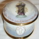 1995 OUR LADY OF MT. CARMEL PRAYER BLESSED VIRGIN MUSIC BOX IMMACULATE LADY