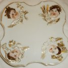ANTIQUE CAPODIMONTE ITALY PORCELAIN PLATE ANGELS CUPID FOUR SEASONS PLATE