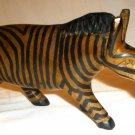 AFRICAN ART WOODEN CARVED ZEBRA FIGURINE