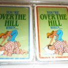 NOVELTY HUMOROUS 'YOU'RE OVER THE HILL WHEN...' PLAYING CARDS SET BELGIUM NEW