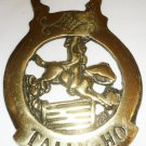 VINTAGE HORSE BRASS TALLY-HO JUMPING HORSE