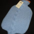 CHARMING LIZ CLAIBORNE WARMTH HOT COLD WATER BOTTLE WITH BLUE BRAIDED COVER NEW