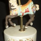 VINTAGE WILLITTS DESIGNS CAROUSEL MEMORIES PORCELAIN HORSE AMERICANA MUSIC BOX