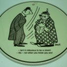 VINTAGE DENMARK KNABSTRUP CERAMIC HUMOROUS PLAQUE TILE TRIVET CARTOON P.STORM A
