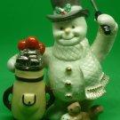 CHARMING LENOX SNOWMAN WITH GOLF BAG PORCELAIN CHRISTMAS FIGURINE