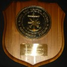 VINTAGE NAVAL SHIP WEAPON SYSTEMS ENGINEERING HEAVY BRONZE ROUND WALL PLAQUE