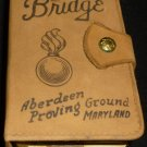 VINTAGE ABERDEEN PROVING GROUND (MD) BRIDGE PLAYING CARDS SET LEATHER HOLDER