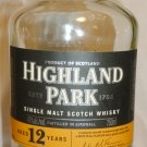 HIGHLAND PARK 12 YEARS WHISKEY COLLECTIBLE EMPTY EMBOSSED BOTTLE SCOTLAND