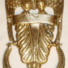 VINTAGE SOLID BRASS BOLD EAGLE DOOR KNOCKER