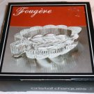 CHARMING SMALL 24% LEAD CRYSTAL LEAF DISH BY CRISTAL D'ARQUES FORGERE NMB
