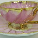 ANTIQUE COLLECTIBLE FINE PORCELAIN TEA CUP/SAUCER JAPAN PINK OHASHI CHINA