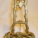 VINTAGE FOLDABLE SOLID BRASS BOOK PLATE DISPLAY STAND EASEL