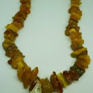 VINTAGE BALTIC RAW AMBER CLUSTER BEADS NECKLACE