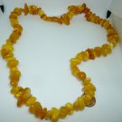 VINTAGE BALTIC MULTICOLOR YELLOW POLISHED AMBER CLUSTER BEADS NECKLACE