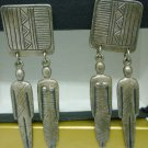 LAUREL BURCH TRIBAL SPIRIT MAN WOMAN EARRINGS '80 Art of Human Being Collection