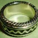 UNISEX STAINLESS STEEL ORNATE BAND