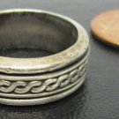 UNISEX ORNATE SILVER STERLING .925 BAND