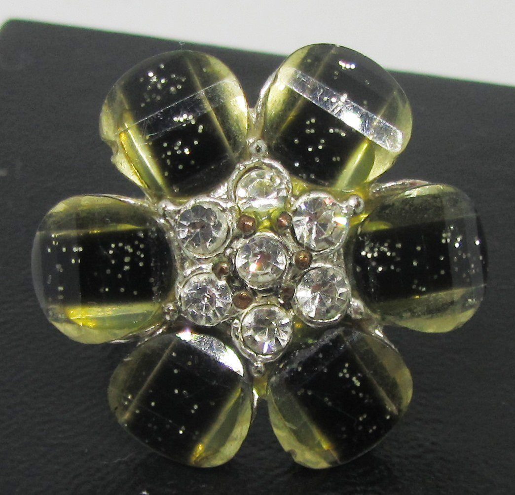 FASHION JEWELRY FLOWER RHINESTONES RING