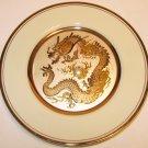 KEITO LACY DYNASTY GALLERY LIMITED EDITION CHOKIN ART DRAGON 14KT Gold Rim Plate